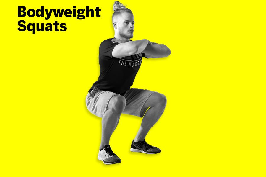 Bodyweight squats LDNMuscle James Exton  (Malcolm Griffiths)