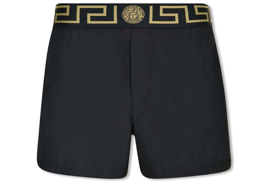 Black Versace swim shorts at flannels ()