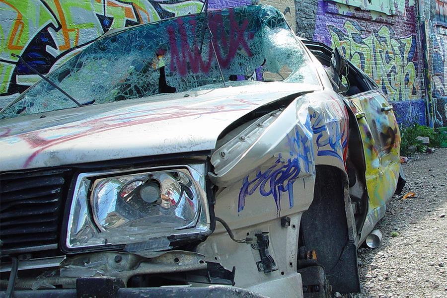 Smashed car (Thinkstock)