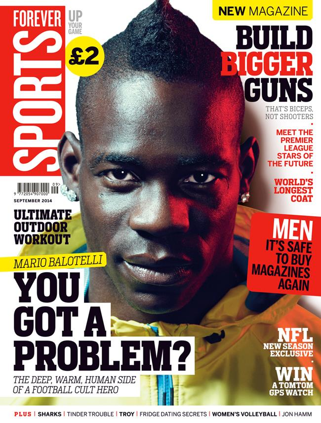 FS magazine cover September 2014 Mario Balotelli ()