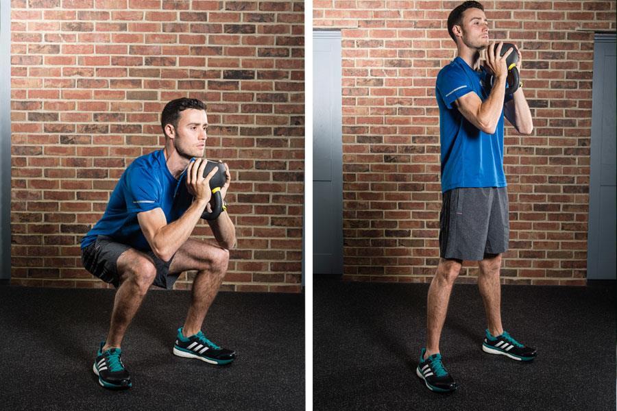 Goblet squats ()