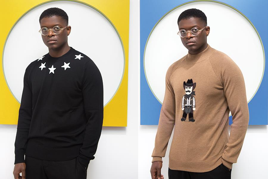 Cowboy applique dolce and gabbana at Flannels. Starneck sweater Givenchy ()