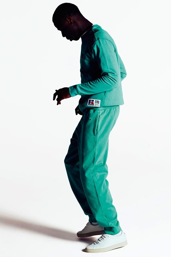 J Hus in a green vintage tracksuit for FS magazine photoshoot ()