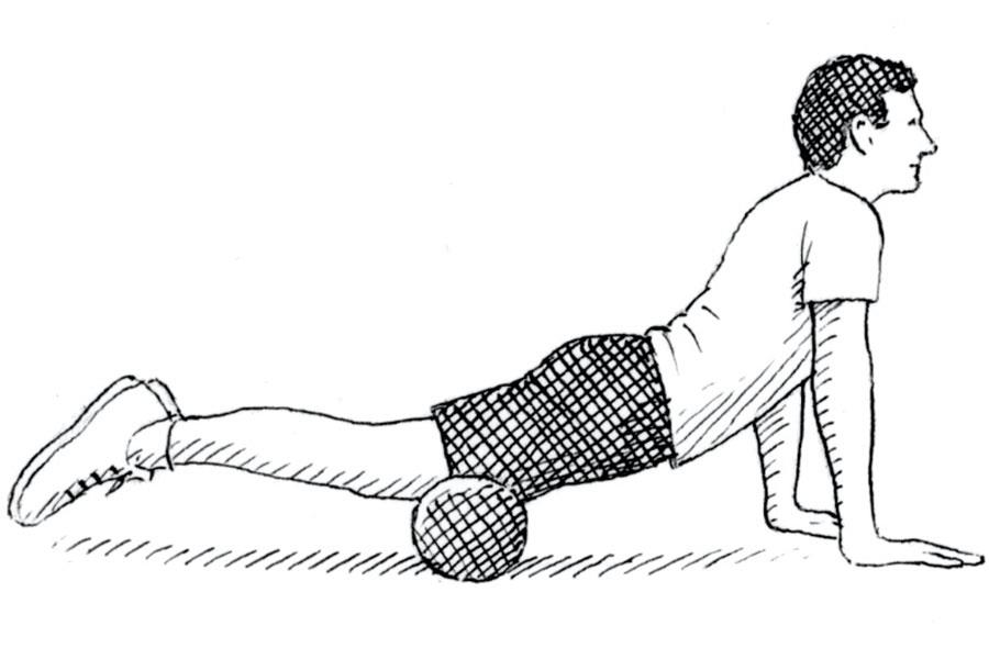 Thigh foam roller exercise ()