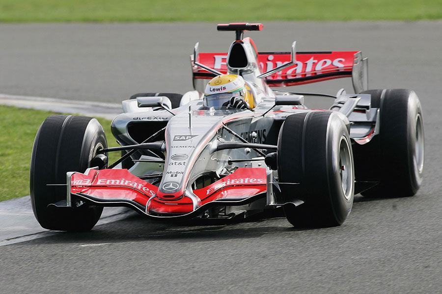 Lewis Hamilton in his McLaren in 2006 ()