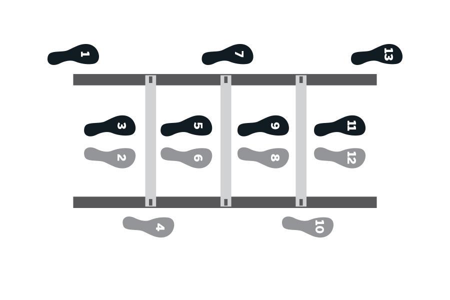 Agility ladder zig zag exerceise ()