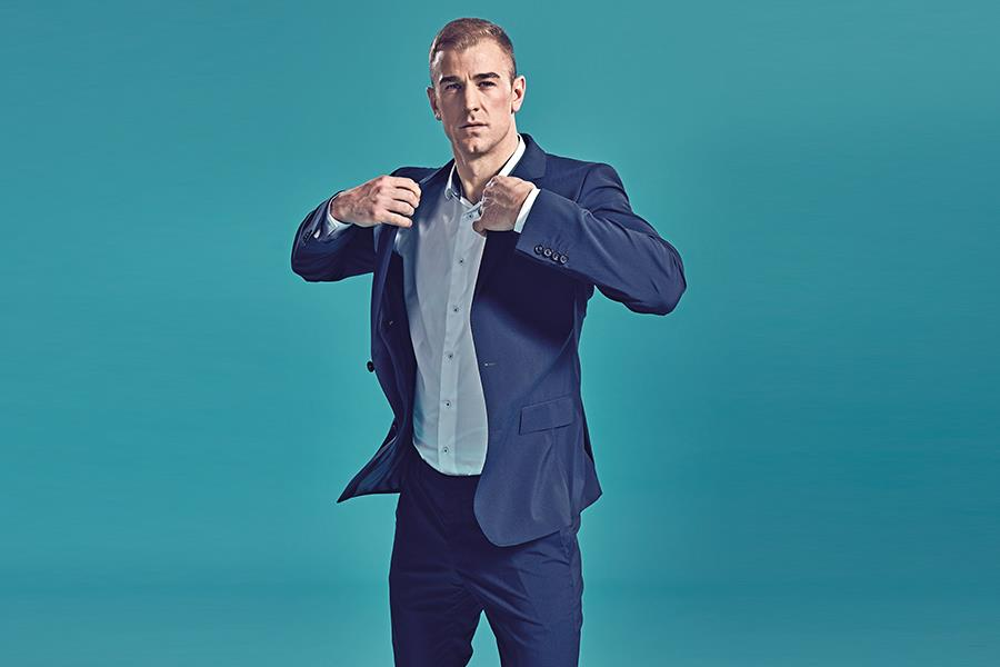 Joe Hart poses in a suit for a studio shot (Steve Neaves)