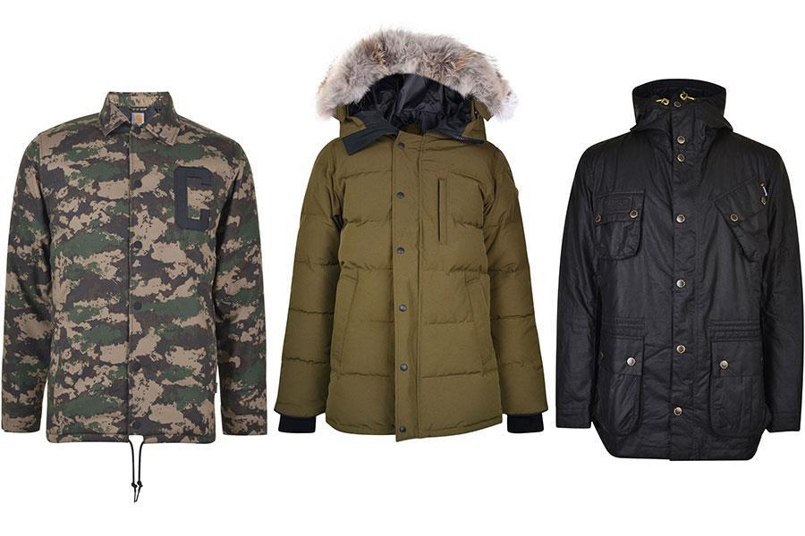 Carharrt Penn camouflage jacket, Canada goose carson parker coat, Barbour fog parka flannels ()
