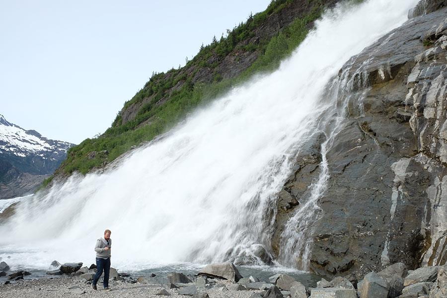 Waterfall in Skagway  ()