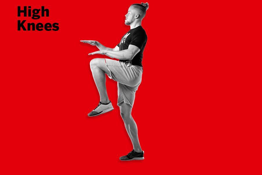High knees LDNMuscle James Exton ()