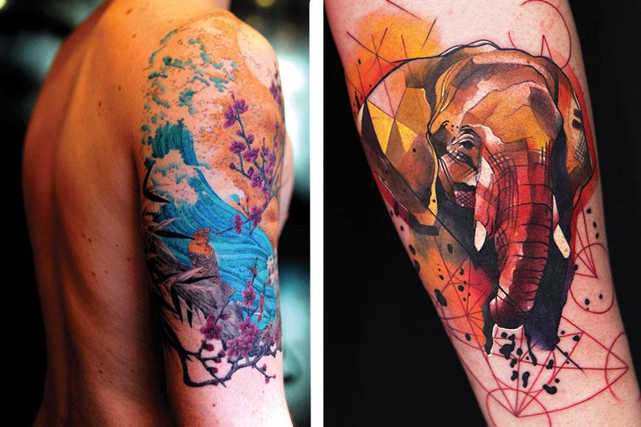 Elephant tattoo ()