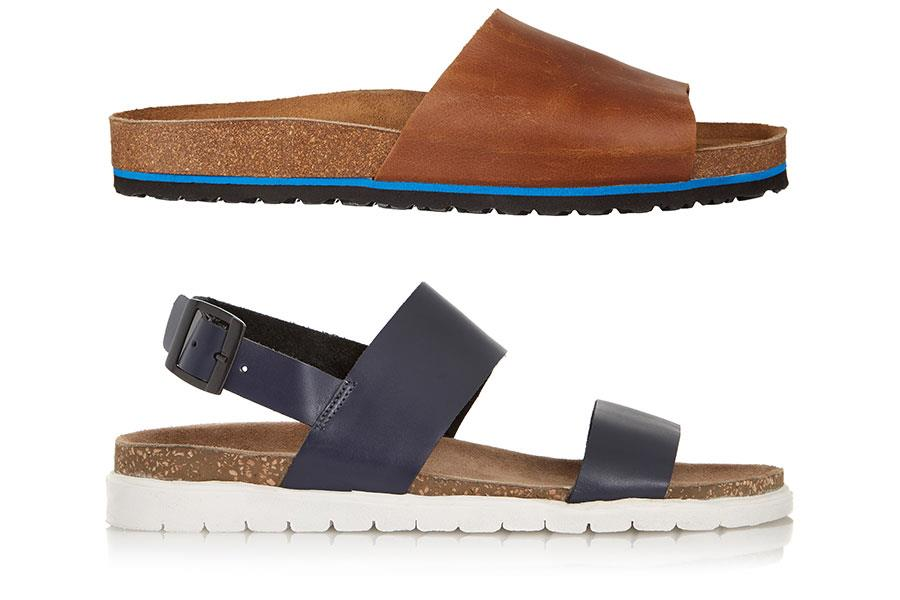 River Island and Dune sandals ()