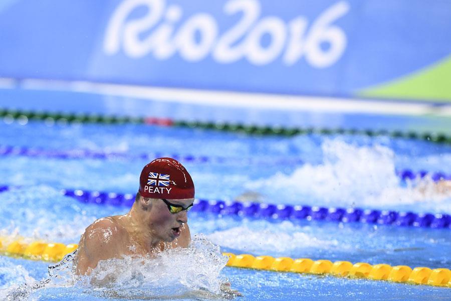 Adam Peaty competing in Rio 2016 Olympics ()